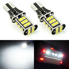 JDM ASTAR 2x 6000K White LED Back Up Reverse Light Bulbs 30-SMD Lamp T10 921 194