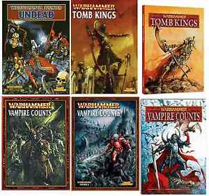 Undead, Vampire & Tomb Kings Warhammer Army Books various editions select