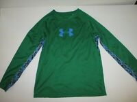 Boys Under Armour Size YLG  Long Sleeve Green Top