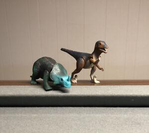 Dino Riders MONOCLONIUS & Deinonychus Dinosaur Action Figure Tyco Toys 1987