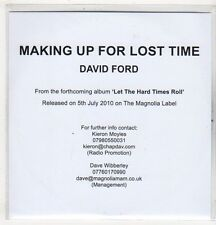 (EV534) Making Up For Lost Time, David Ford - 2010 DJ CD