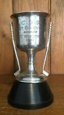 More details for 1961 bogey comp golf vintage silver plate trophy, trophies, loving cup