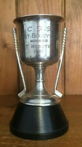 1961 Bogey Comp Golf vintage silver plate trophy, trophies, loving cup