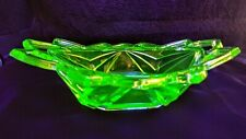 New ListingGreen Depression Glass Pyramid Bowl