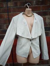 Ladies beige Cream natural Linen Waterfall blazer Jacket Uk 20 summer holiday