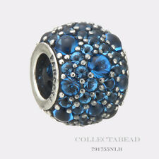 Authentic Pandora Silver Shimmering Droplets London Blue Crystal Bead 791755NLB