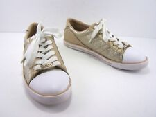 2d0f5f6ab2b7 GUESS Hartly Womens Sneaker Shoe Size 8.5 Gold Glitter Casual Fashion Lace  Up