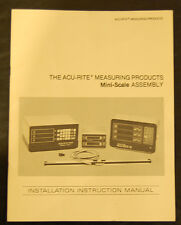 Acu Rite Mini Scale Assembly Digital Measuring System Instruction Manual