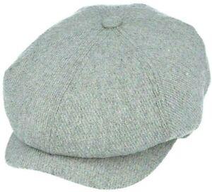 Peaky Blinders Grey Hat Newsboy Gatsby Cap Flat Baker Boy Wool Mix Bakerboy Men