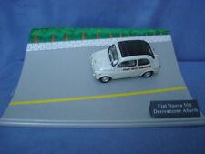 MODELLINO IN METALLO UNIVERSAL HOBBIES-FIAT NUOVA 500-DERIVAZIONE ABARTH-CON BOX