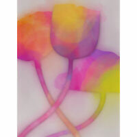 ABSTRACT TULIP GRUNGE FLOWER PAINTING ART PRINT POSTER PICTURE BMP1567A