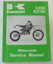 Kawasaki Motorcycle Service Shop Manual 99924-1144-04 Kx80 Kx100 Mx 1991-1997 (Fits: Kawasaki)