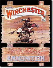 Western Cabin Lodge Barn Stable Decor ~Winchester Pony Express~ Metal Sign