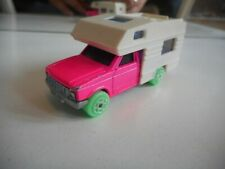 Majorette Camping Car in Pink/White + Green wheels