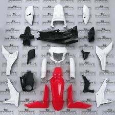 HONDA CRF CRF250 CRF250L -F FULL FAIRING PANEL SET + DECALS RED + WHITE 2012-17