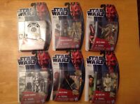 NEW Star Wars Movie Heroes Set of 6 Figures NIB R2D2 Darth Maul Anakin Lot