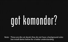 (2x) got komondor? Sticker Die Cut Decal vinyl