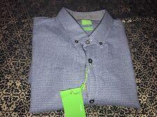Hugo Boss Green Label Short Sleeve Button Down Casual Shirt Large C-Baldasar