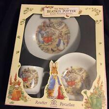 Beatrix Potter Porcelain Childs Dinnerware Set New In Box Germany