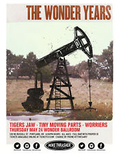 Wonder Years / Tigers Jaw / Worriers 2018 Portland Concert Tour Poster- Pop Punk