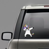 Applique Funny Waterproof Cartoon Unicorn Windows Decal Car Stickers