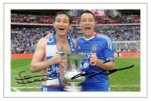 FRANK LAMPARD & JOHN TERRY Signed Autograph PHOTO Gift Signature Print CHELSEA