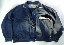 EUC! Vintage Ladies size Medium PINKY ORIGINAL Logo Navy Blue Jacket Button up