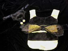 male female BUMBLE BEE puppy dog HALLOWEEN COSTUME 2 PC furry SPARKLE WING SMALL
