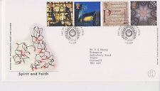 GB ROYAL MAIL FDC FIRST DAY COVER 2000 SPIRIT & FAITH STAMP SET DOWN PATRICK PMK
