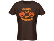 Hands Off My Pumpkins Womens Halloween T-Shirt (12 Colours)