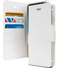 iPhone XS Max Genuine MERCURY Goospery Sonata Diary White Flip Case Wallet Cover