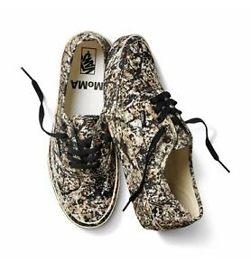 Mens 8.5 Womens 10: Vans x MoMA Authentic Jackson Pollock Paint Splatter(No LID)