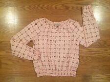 Girls Kids Lucky Brand Live In Love Pink Long Sleeve Shirt Really Nice Medium M