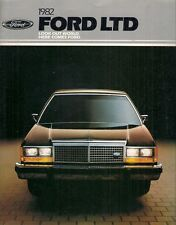 FORD Ltd 1982 brochure del mercato USA 2-dr 4-dr Crown Victoria CARRO Country Squire