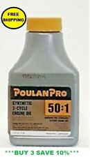 POULAN PRO 2 Cycle SYNTHETIC ENGINE OIL 50:1 Mixture 2.6 oz  ** BUY 4 SAVE 15%**