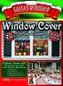 Christmas Santa's Workshop 2-Pc Elf Window Poster Covers North Pole Decoration