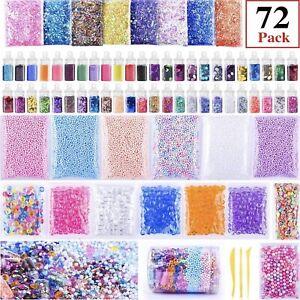 Kids Slime Supplies Kit Beads Charms Glitter Fishbowl Foam Fruit Slices Beads