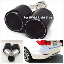Left Side Car Exhaust Dual TWIN End Tips for BMW 2.5'' in, 3.5'' out Dual Pipes