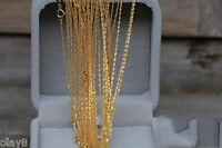 Pure Amazing 18K Yellow Gold Necklace Lucky Singapore Chain Au750 18inch