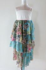 Chino Kids Girls Dress Aqua Floral Butterfly Layered  - Size 10y RRP $119