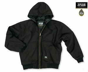 TGJ350 Men's Quilt Lined Insulated Water Repellent Duck Hooded Work Jacket