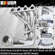 SS Header fits 88-91 Honda Civic D Series ONLY