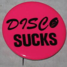 1970's Disco Sucks Pin - Hot Pink