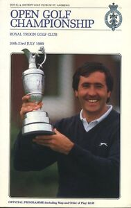 BRITISH OPEN GOLF PROGRAM -1989-ROYAL TROON WON BY MARK CALCAVECCIA-SEVE COVER