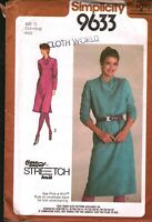 9633 Vintage Simplicity Sewing Pattern Misses Pullover Dress Stretch Knit UNCUT