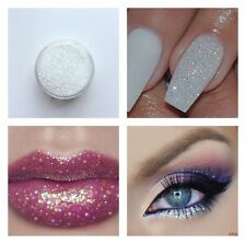 Iridescent Micro glitter White Sparkle Shimmer Effect Dust Powder Nail Art Lips
