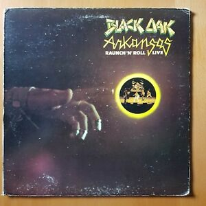 BLACK OAK ARKANSAS ~ RAUNCH 'N' ROLL LIVE- VINYL LP - ATCO 1973 EX