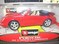 Porsche 911 Carrera Cabriolet BBURAGO 1:18 RED Special Collection NEU / MINT!