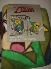Legend of Zelda Wind Waker Sword Shield Nintendo NES Plush Fleece Throw Blanket