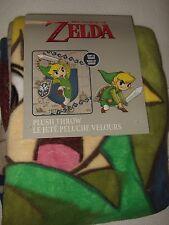 Legend of Zelda Wind Waker Sword Shield Nintendo NES Plush Fleece Throw Blanket